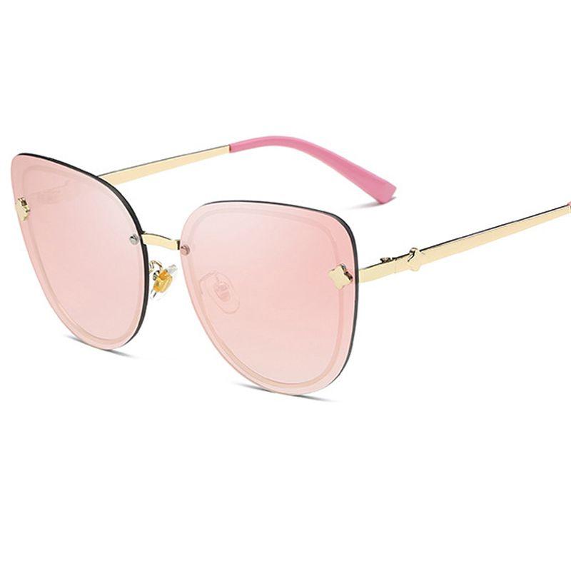 8121266d55d1f 2017 Rimless Cat Eye Sunglasses Women Brand Designer Clear Lens Cat ...