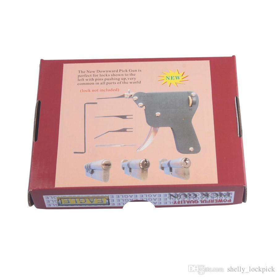 KARTAL Manuel Kilit Seçim Gun Kilit Seçim Aracı Set Kapı Kilidi Hızlı Açıcı Lockpick Çilingir Araçları - Aşağı