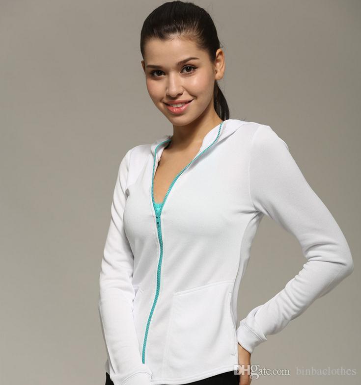 5da7d720 Para mujer chaqueta deportiva de secado rápido profesional Fit camisa de  manga larga con cremallera para yoga, entrenamiento, ejercicio al aire  libre ...