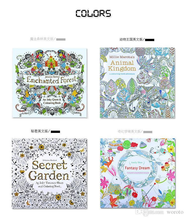 Secret Garden An Inky Treasure Hunt And Coloring Book For Children Adult Relieve Stress Kill Time Graffiti Painting Drawing Bo Free Printable