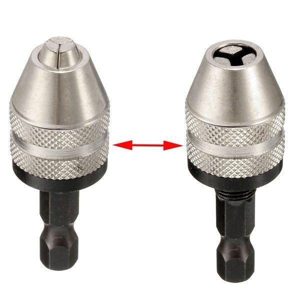 0,3-3,6 mm Schnellwechselbohrfutter 6,35mm Sechskantschaft Chuck Adapter Converter
