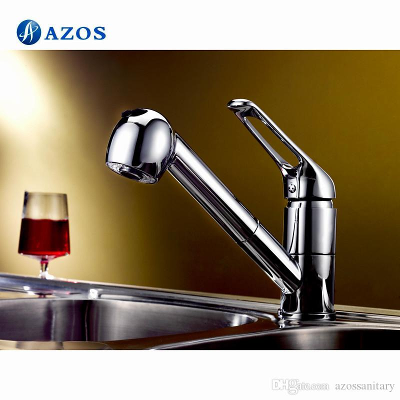 2018 Azos Kitchen Sink Faucet Modern Free Swivel Pull Out Shower ...