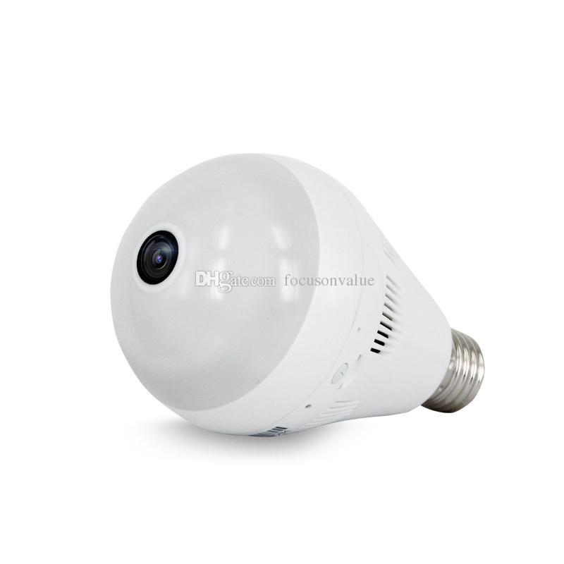 Wireless Bulb Light IP Camera HD 960P Wi-fi FishEye Panoramic camera 360 degree Full View Mini CCTV Camera Home Security Camcorder