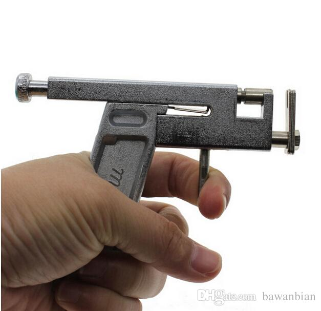 Professional Ear Body Nose Piercing Gun Machine Tool Kit Set + Steel Studs Piercing the Ear Guns Iron Suit