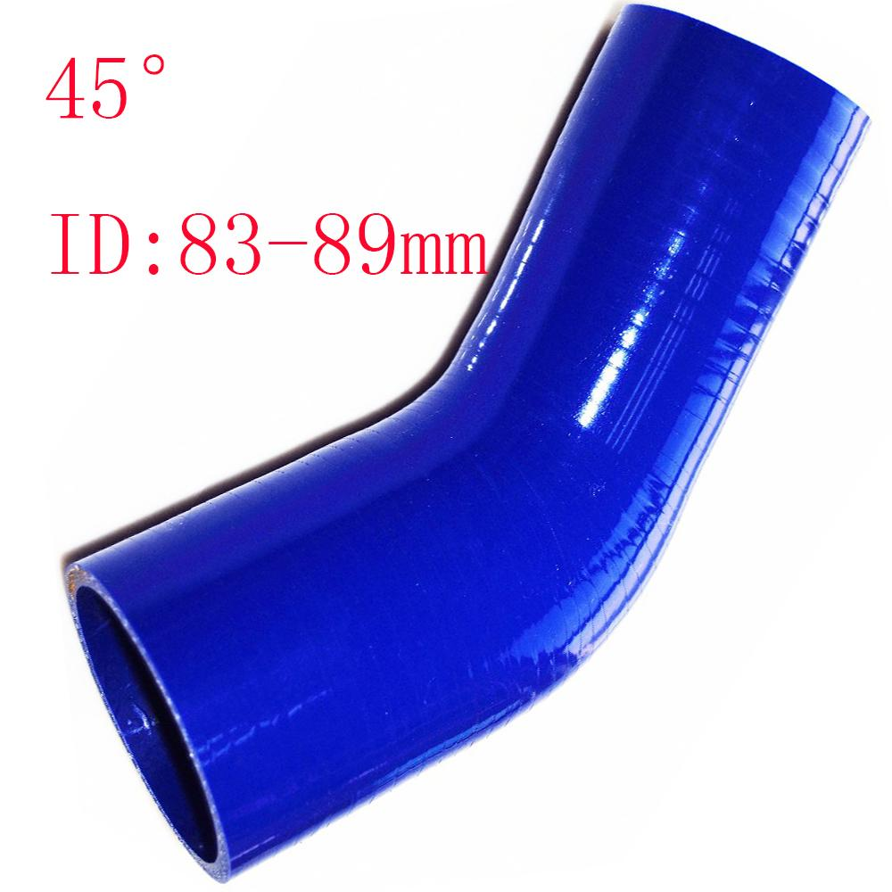 """Universal ID:3.27""""-3.5"""" ID:83-89mm Silicone 3Ply Straight Silicone Hose Intercooler Coupler Tube Pipe 45reducing silicone pipe hump hose"""