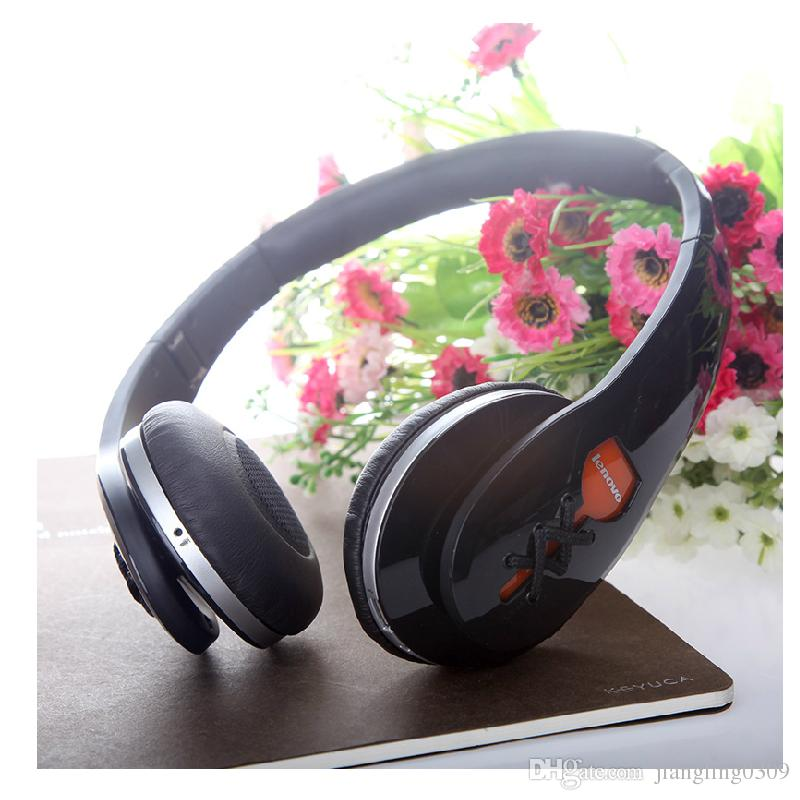 6c07d9a4673 Genuine Lenovo W870 bluetooth headset Stereo music Folding Wireless  Headphone with Mic for computer mobile phone
