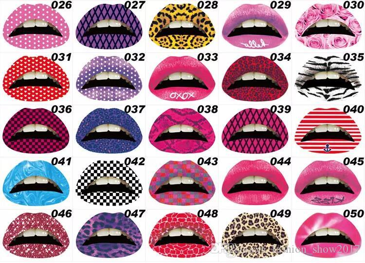 Tatuagem Temporária Lip Stickers Batom Art Transferências Beijo Lábios Arte Corporal Beleza Maquiagem À Prova D 'Água Adesivos Tatuagem Temporária
