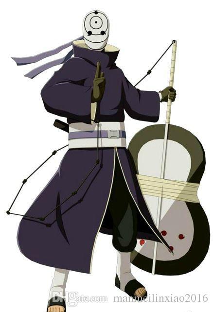 Anime Traje NARUTO Akatsuki Ninja Tobi Obito Madara Uchiha Obito Traje Cosplay Com Capacete