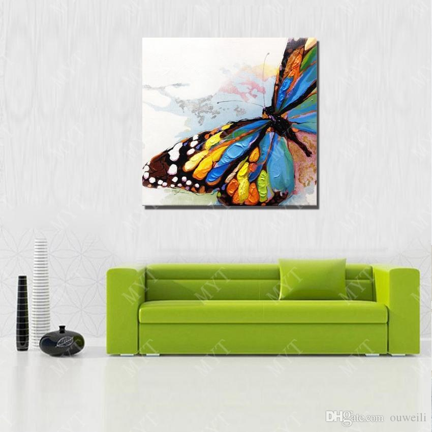 Realistic butterfly paintings hand painted canvas art decor drop shipping home goods oil painting for wall scenery decoration