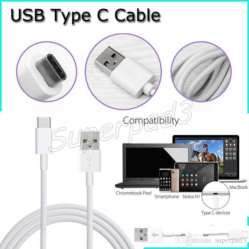Hi-speed 1M USB 2.0 Type C Power Date Sync Cable Line For Samsung Note 7 Apple Macbook LG NEXUS 5X Nokia N1