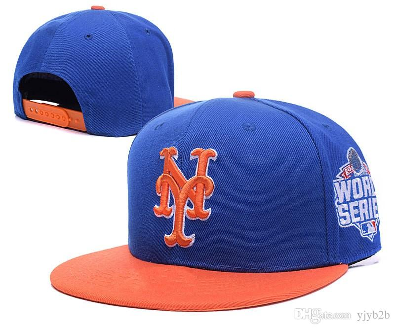 Men S Snapback Hats In Royal Blue Orange With 2016 WS Patch Embroidered  Letter NY Logo Sport Adjustabl Baseball Caps Custom Hat Caps For Men From  Yjyb2b ad492bb755f
