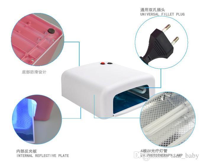 36 Watt UV LED Gel Nagel Lampe UV led lampe Gel Aushärtungsröhre Licht Nail art Polnischen Trockner Maschine B4269