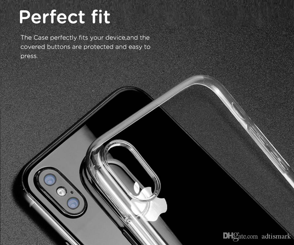 the best attitude 310b0 b2ccf For Apple iphone X case Slim Transparent Soft TPU For iphone x 8 7 6s Plus  Cover Case Crystal Clear Back Ultra Thin