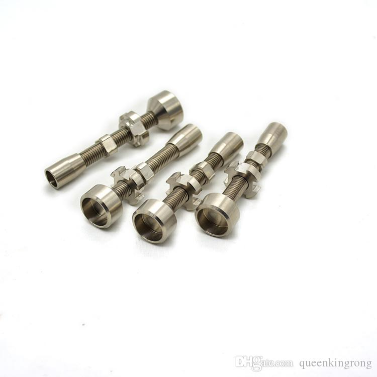 Doppio banger titanio senza chiodi in titanio grado 2 regolabile 14 mm 18 mm tubi da fumo Strumenti Accessori Tappi olio