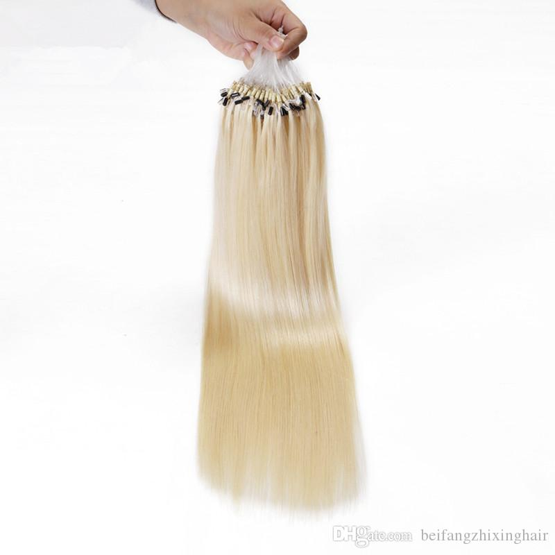 Grade 8a 100 Human Russion Hair Blonde Color 60 Micro Link Hair