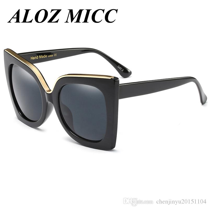 890cca96c7 ALOZ MICC Brand Sunglasses Vintage Women Cat Eye Glasses Big Frame ...