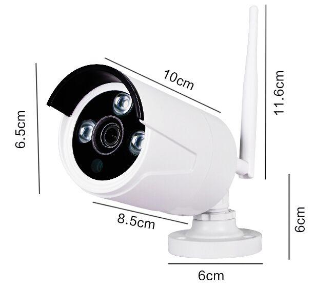 2.0 Megapixel 1080P 4CH Wifi NVR KIT Wireless IP Camera Signal Range del segnale 100 Metri in 4 Telecamere IP Wifi con supporto da parete