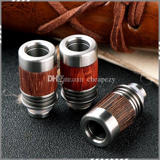 Новые 510 Redwood капельного советы SS красного дерева капельного наконечника широкое отверстие мундштук 3 цвета подходят атомайзер высокое качество DHL бесплатно
