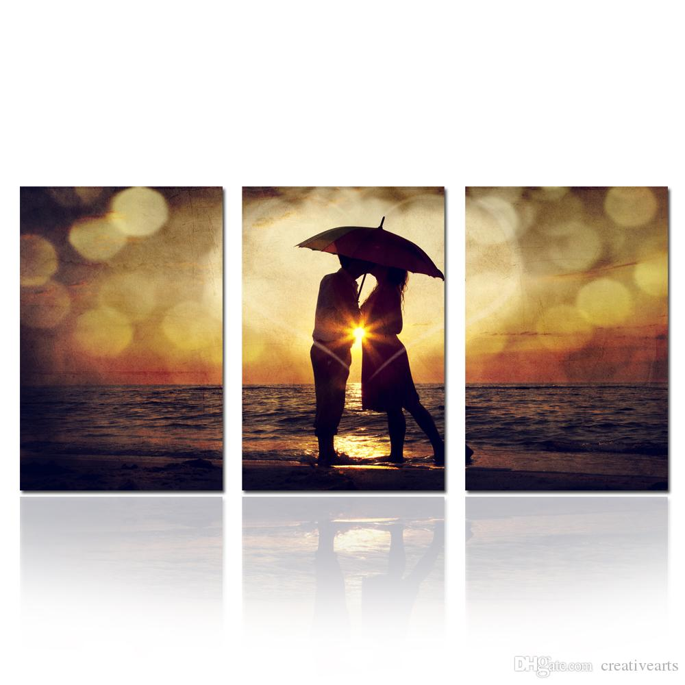 944980340dc 2019 Vintage Couple Kiss Romance Poster Canvas Prints Love Wall Decor Art  For Home Decoration Valentine S Gift Unframed From Creativearts