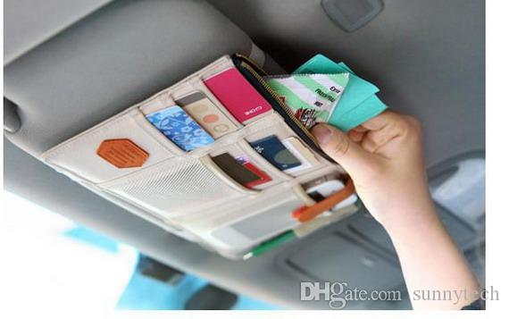 Car Sun Visor Storage Point Pocket Documents Organizer Bag Pouch Card Holder Credit Card Namecard pen