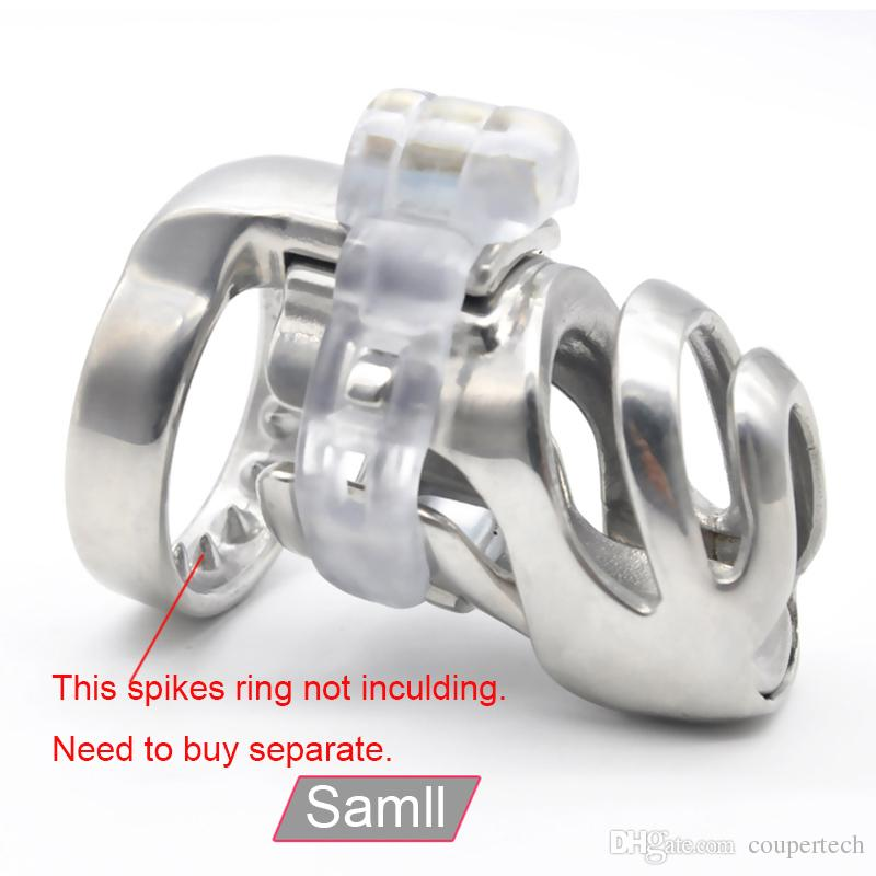 새로운 3D 디자인 316L 스테인레스 스틸 은폐 자물쇠 작은 남성 순결 장치, 수탉 케이지, 남근 반지, 남근 자물쇠, 남자를위한 페티쉬 순결 벨트