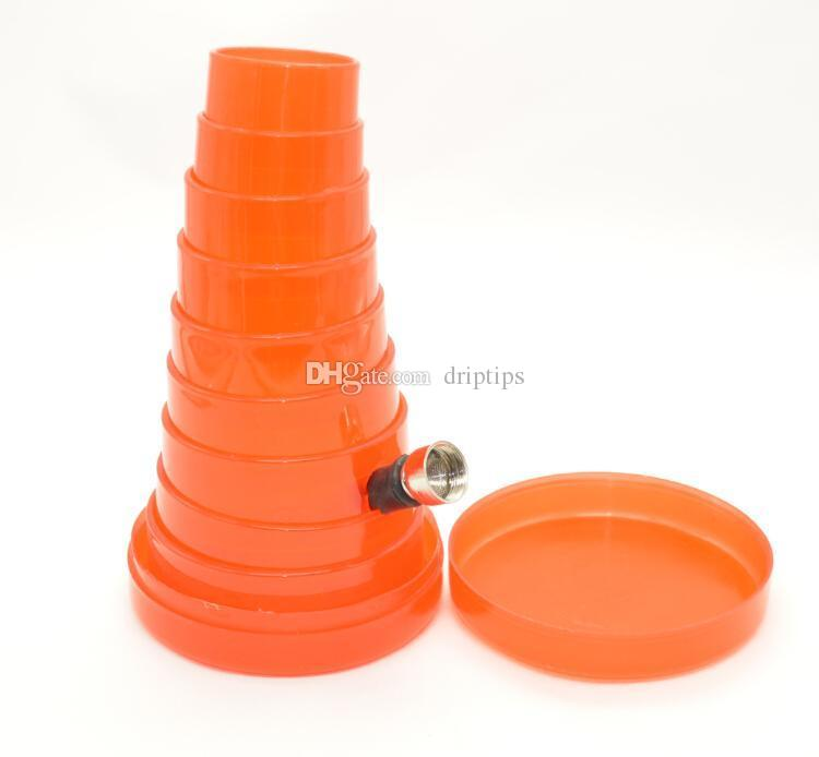 REISE ROHRE Kunststoff Acryl Bong Flexible Wasser Rohr Rakete Tabak Bong HOOKAH SHISHA RAUCHROHR RAUCHEN ZUBEHÖR ÖL RIG