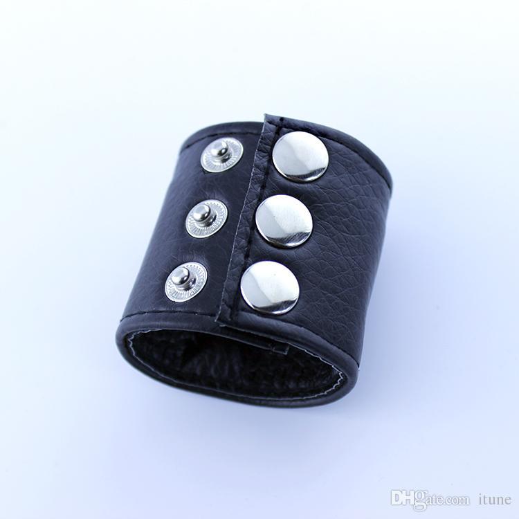 Testicoli di pelle regolabili che allungano i giocattoli del sesso della barella della palla dell'anello gli uomini A130
