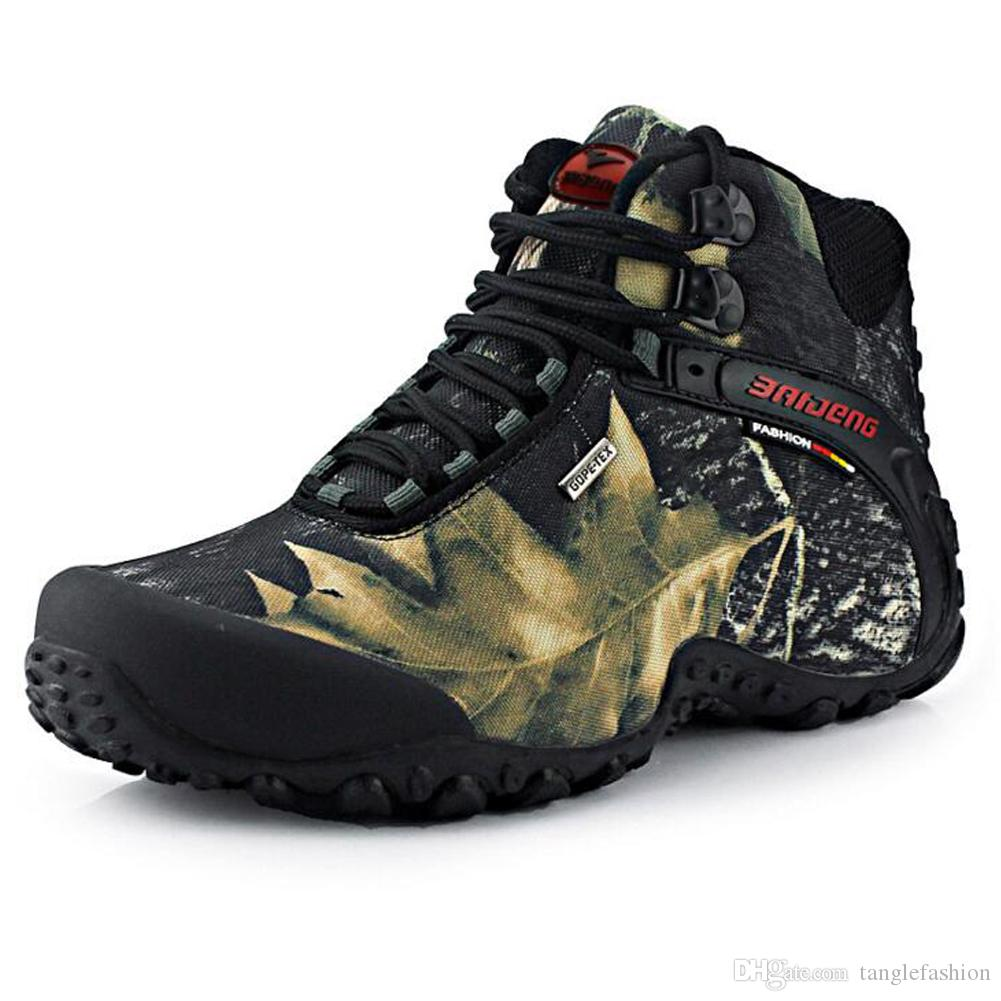 Baideng Men\u0027S Waterproof Hiking Boots Ankle High Outdoor Fashion Activies  Sports Shoes Camouflage Trekking Travelling Hiking Shoes Boots For Men  Girls
