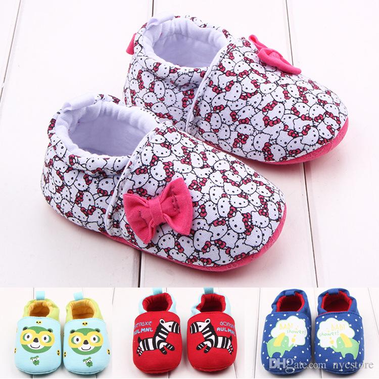 c192cf270 2019 New Fashion Hello Kitty Cotton Baby Shoes Infant Sneakers Baby Boys  Girls Moccasins First Walker For Toddler From Nycstore, $55.84 | DHgate.Com