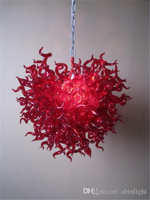 Red Murano Glass Chandeliers China Factory-outlet Blown Glass Turkish Style Heart Shape Chandelier for Wedding Decor
