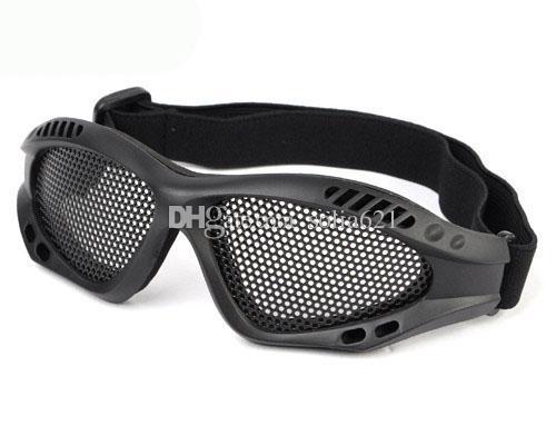 Ojos tácticos tácticos de malla de metal deportes gafas protectoras ciclismo hombres gafas gafas al aire libre