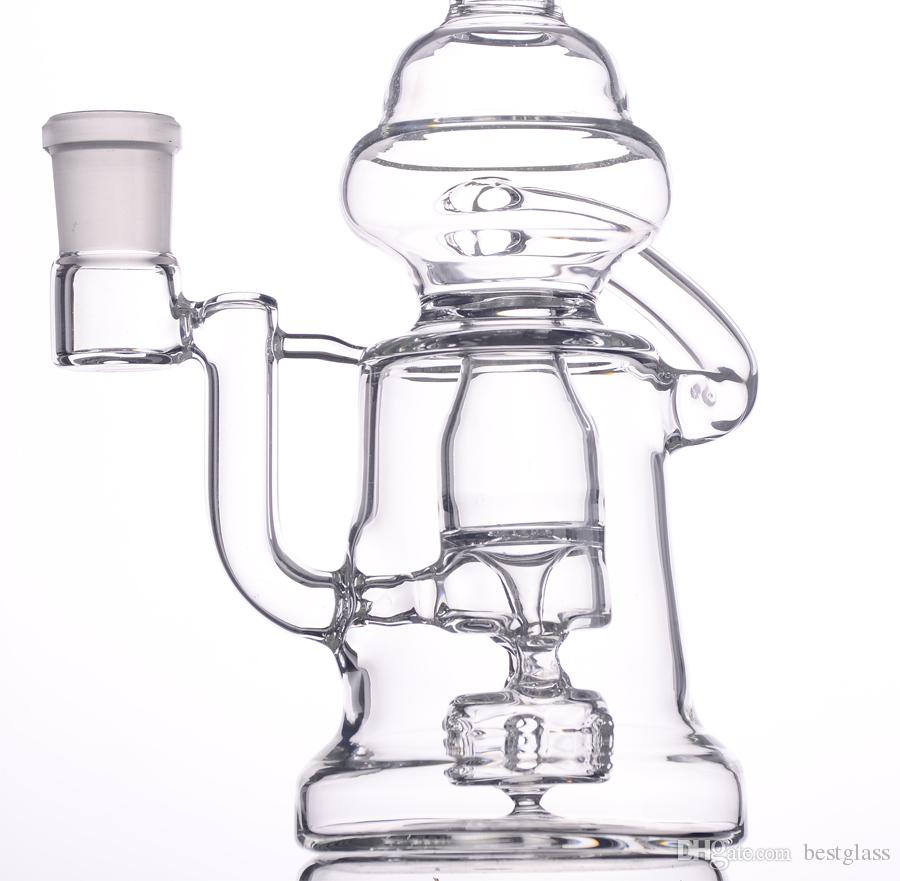 G30 Glass Recycler Bongs Water Pipes Head Scientific Design With Heavy Bowl Shape Like Baby H=250mm BestGlass