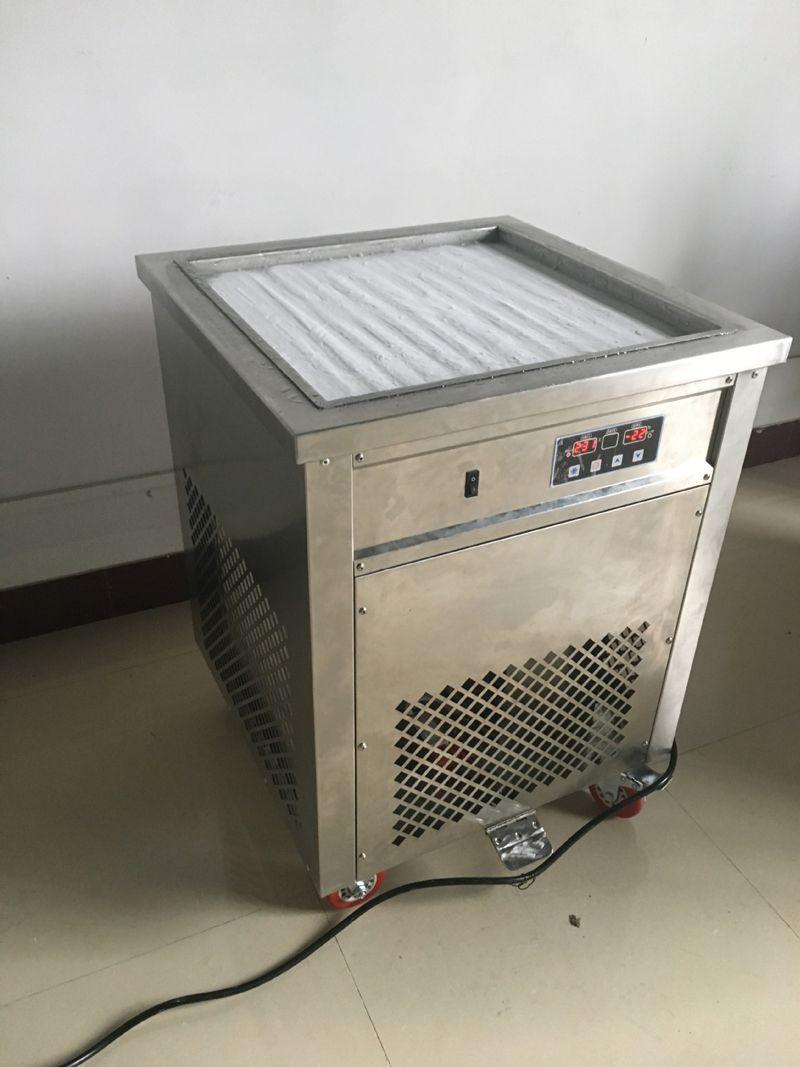 50 Cm Pan helado rollo máquina inteligente tailandesa Fry con Fried Yogur 60HZ 110V fabricante con la certificación de envío de DHL del CE