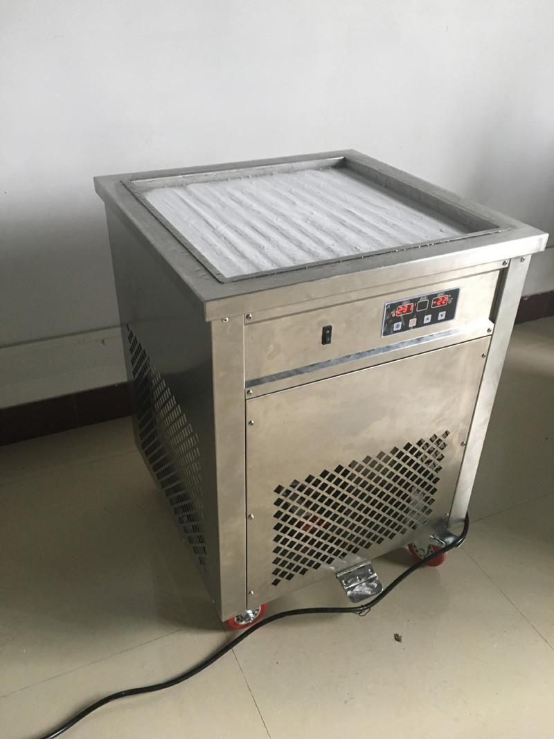 50 Cm Pan Ice Cream Ролл машина Смарт тайский Fry с Fried Йогурт Maker 110V 60HZ с CE удостоверяет DHL Бесплатная доставка