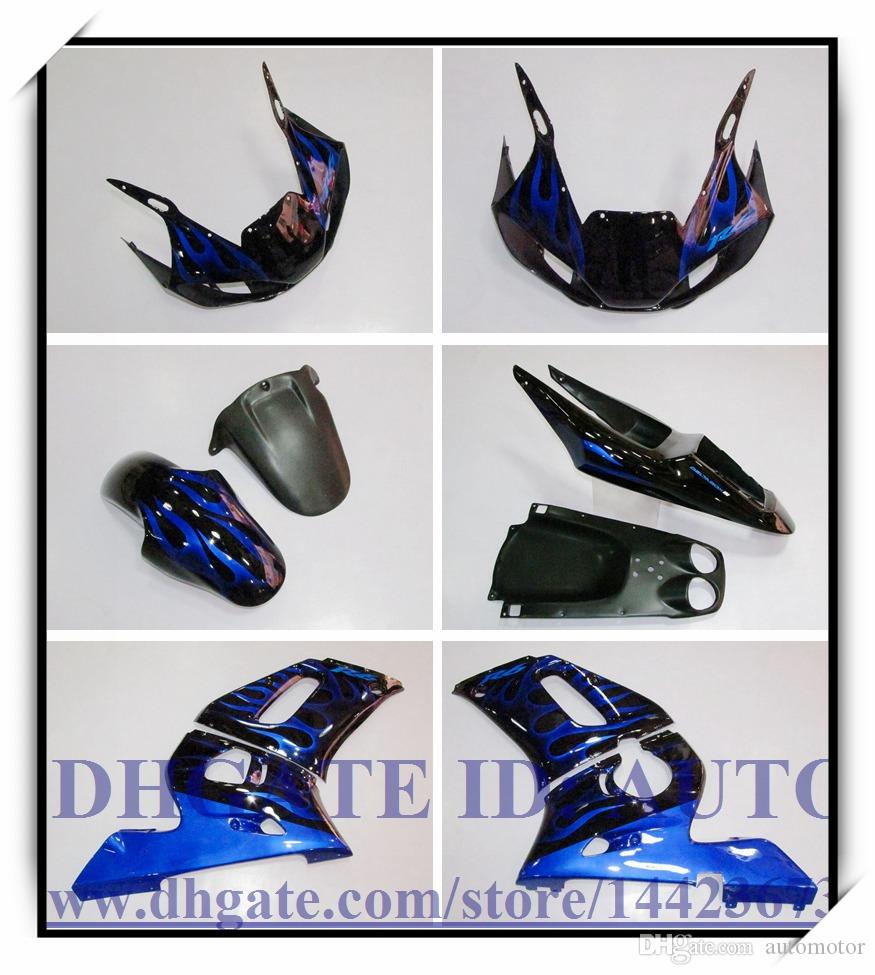 Kit carena iniezione nuovo di zecca 100% adatto YAMAHA YZF R6 1998-2002 YZFR6 1998-2002 1999 2000 2001 YZF R6 98-02 # GX773 BLUE FLAME