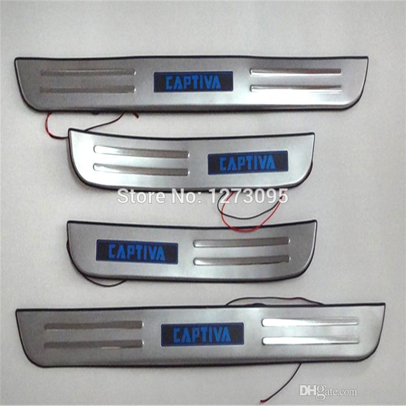 Stainless Steel Interior + Exterior Door Sills Scuff Plate for 2012 2013 Chevrolet Chevy Captiva Threshold Trim Car Accessories
