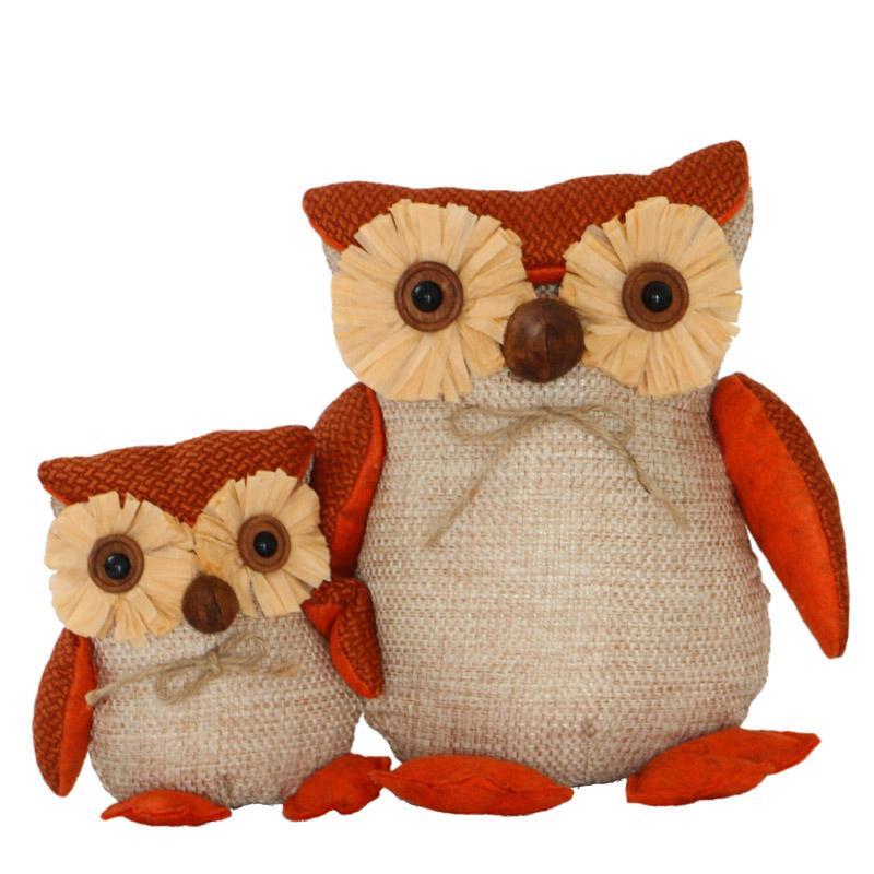 Due animali di peluche farciti Gufo Simpatico gufo Giocattolo di peluche  Bambino regalo di compleanno Regalo di Halloween
