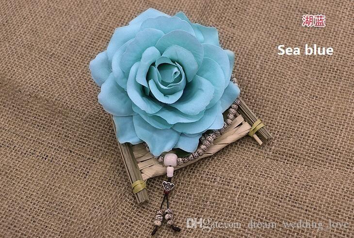 rose têtes fleurs artificielles en plastique faux fleurs tête de haute qualité soie fleurs de mariage décoration murale Livraison gratuite WF008