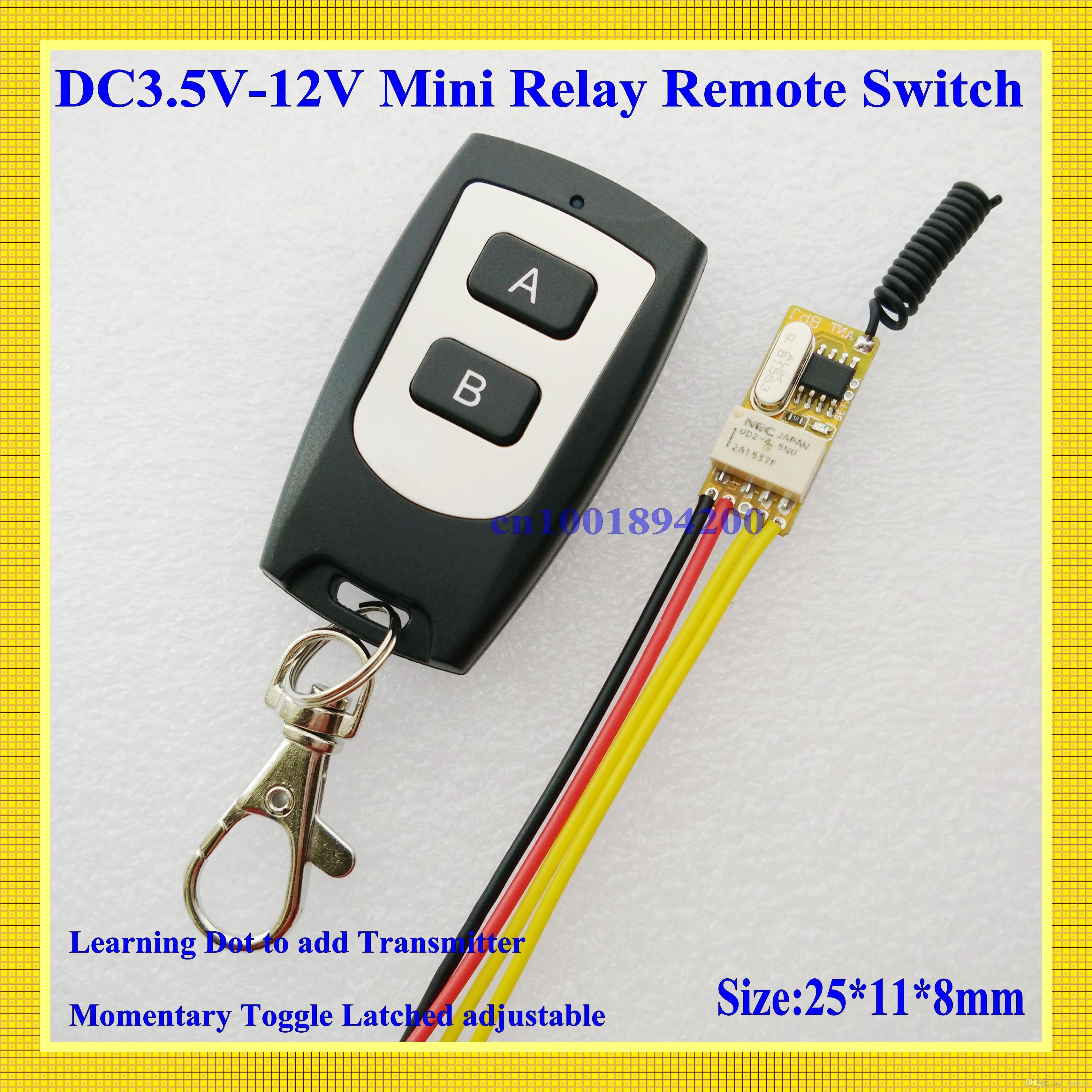 4V 5V 6V 7 4V 9V 12V Small Relay Remote Control Switch Micro