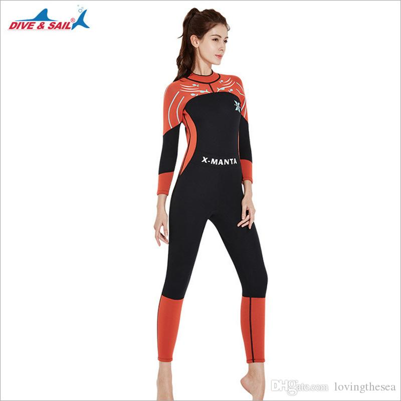 1118314724 2019 Dropshipping New Womens Female Wetsuit Swimming Suit 3mm Print Thermal Scuba  Dive Fullbody Diving Suit Spearfishing Waterski From Lovingthesea