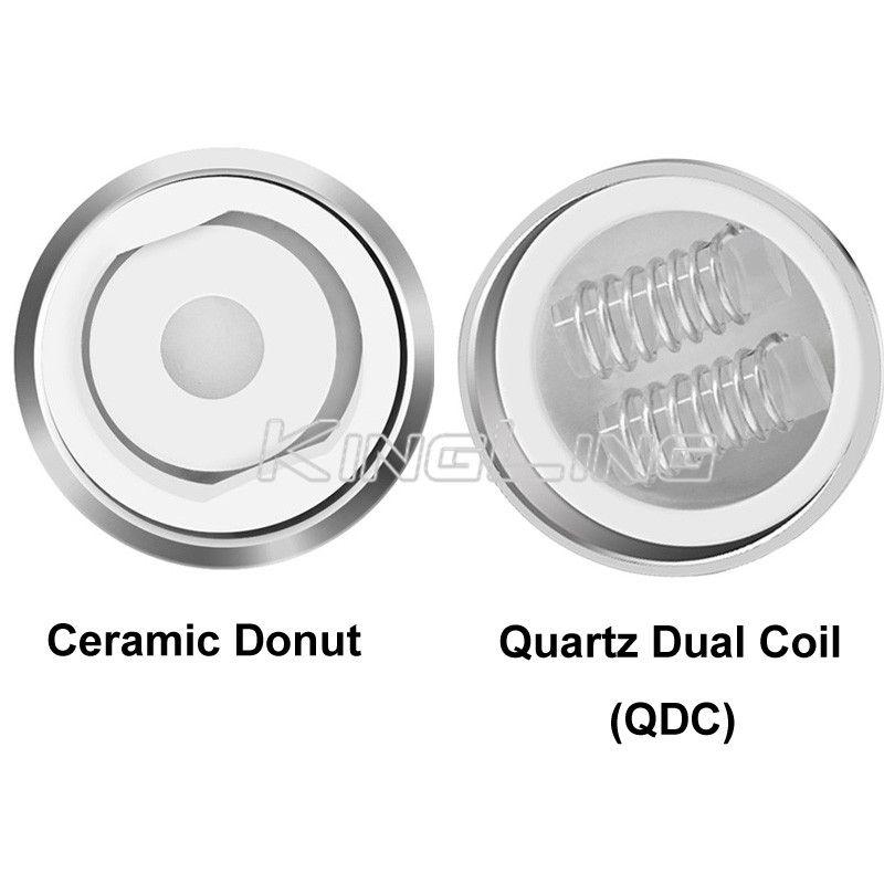 100% Original Yocan Evolve Plus Ceramic Donut Evolve Pandon Evolve-D Torch NYX Cerum Wax Herbal Coil QDC Ceramic Donut Core Heads Authentic