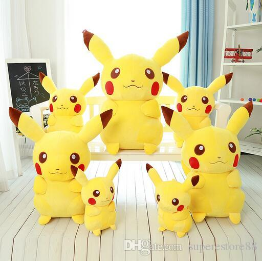 Pokeman Pikachu 35cm Japan Pocket Monster Cartoon Plush Toys Cheap Baby Toy Valentine Christmas Gift home deco free shipping