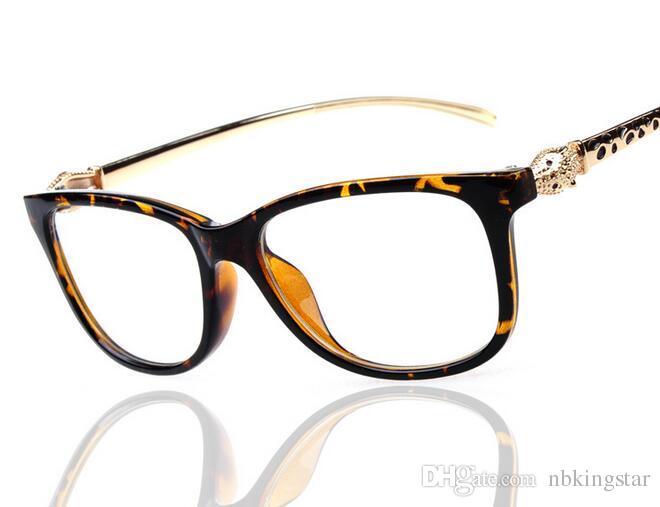 2018 Elegant Women\'S Leopard Head Eyewear Frame Optical Eyeglasses ...