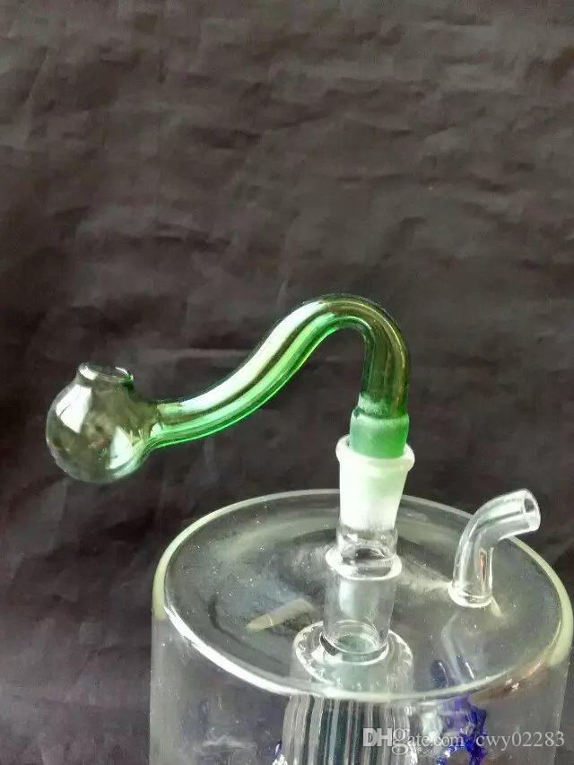 새로운 색상 연기 냄비, 도매 유리 봉 액세서리, 유리 물 파이프 흡연, 무료 배송