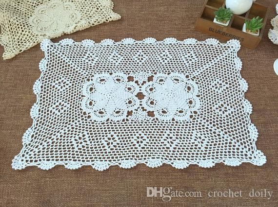 40x60cm Hand crochet table mats, wedding centerpieces, 100% handmade placemats, oblong doilies crochet for home decor