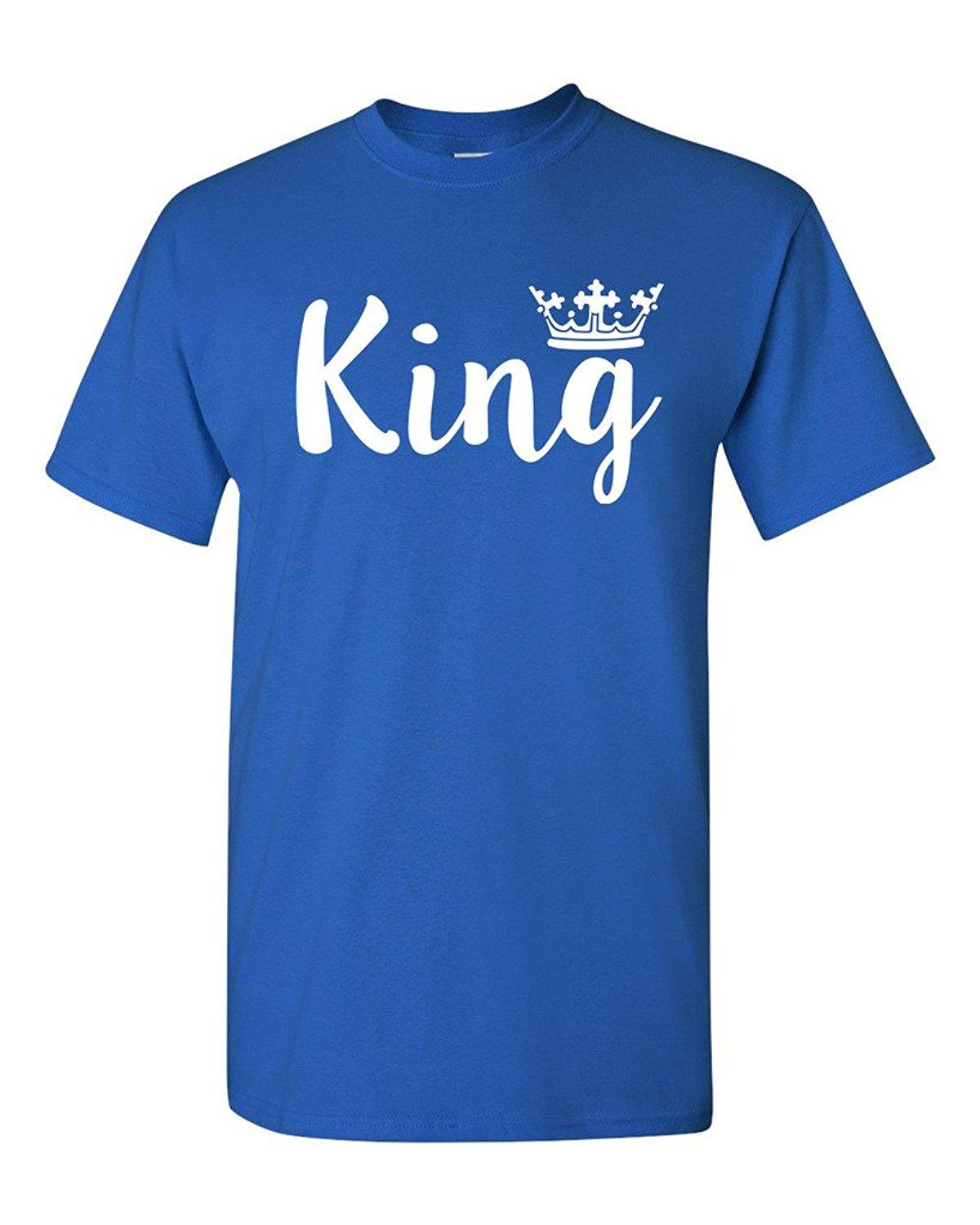 34d07945 King Crown Couple Love Matching Relationship Funny DT Adult T Shirt Tee Web T  Shirts Great Tee Shirt Designs From Bstdhgate04, $11.01| DHgate.Com