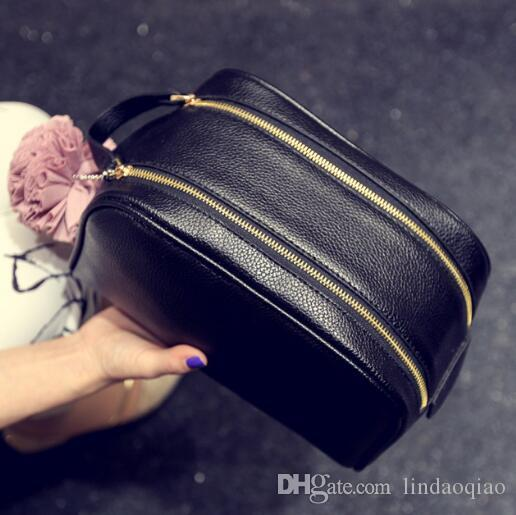 2016 heißer Verkauf L Echtes Kalbsleder Kulturbeutel M47528 Oxidizatio Zippy Beutel Waschbeutel L Marke Kosmetik Fall herren womens handtasche