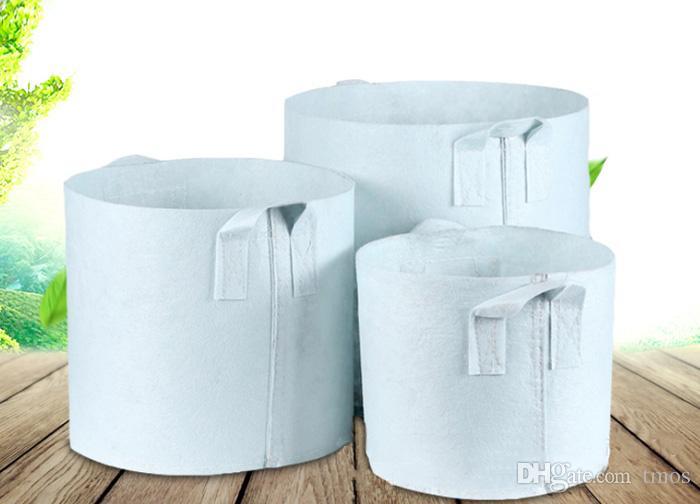 Опция 10 Размер Нетканый материал Многоразовый мягкий мягкий высокопроницаемый растущий горшки для посадки пакета с ручками Дешевые цена Большой цветочный плантатор
