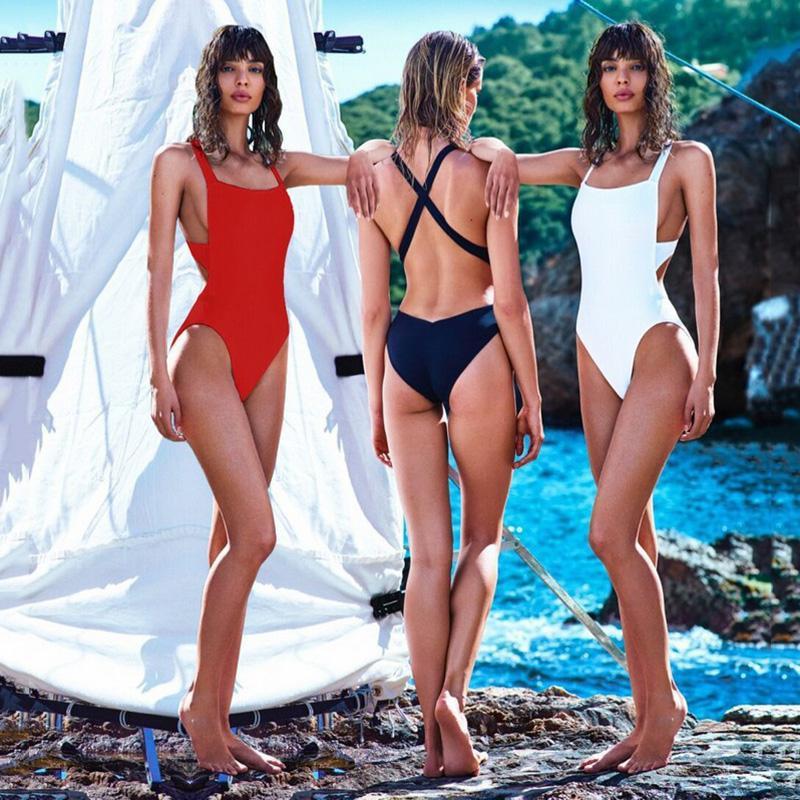 179217f15dd 2019 Sexy Swim Professional Sport Triangular Piece Swimsuit One Piece  Swimwear Bathing Suit Bodysuits High Cut One Piece Swimsuits From Pond, ...