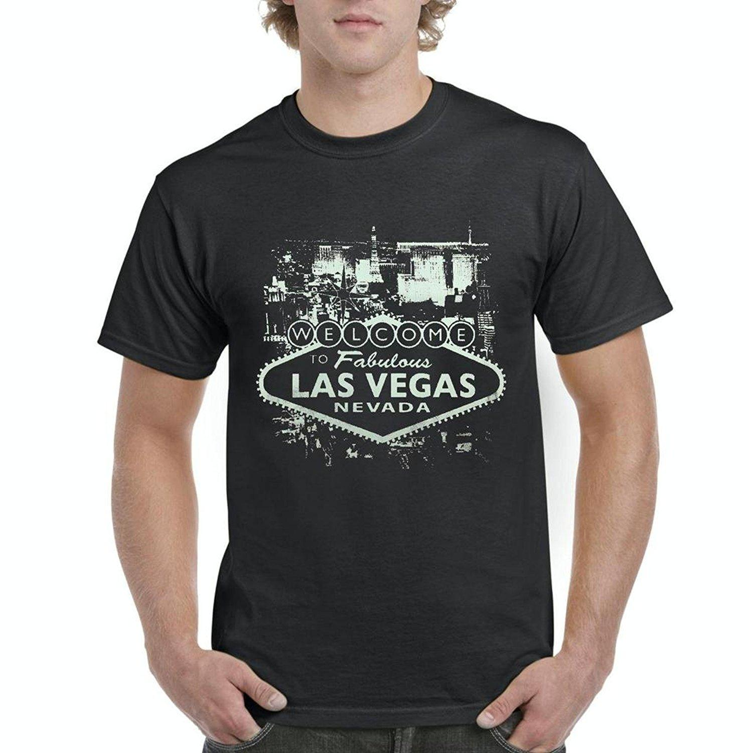Graphic Music Tees Welcome To Las Vegas Nevada Mens T Shirt